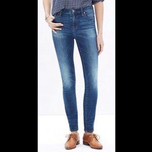 Madewell High Riser Skinny Jeans in Dayton Wash